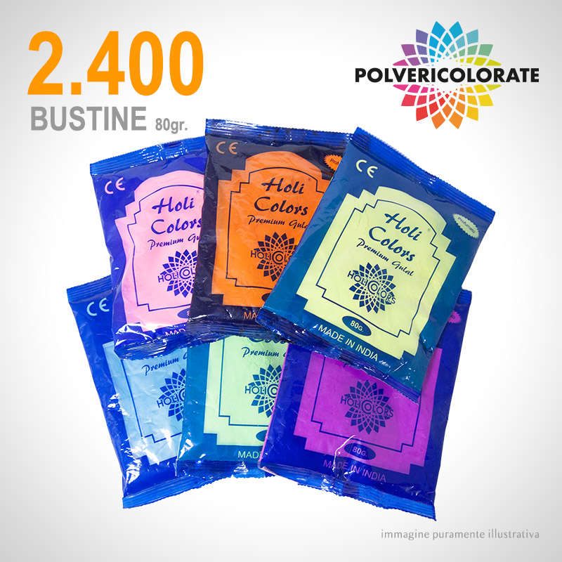 Polveri Colorate HoliColors - 2.400 bustine