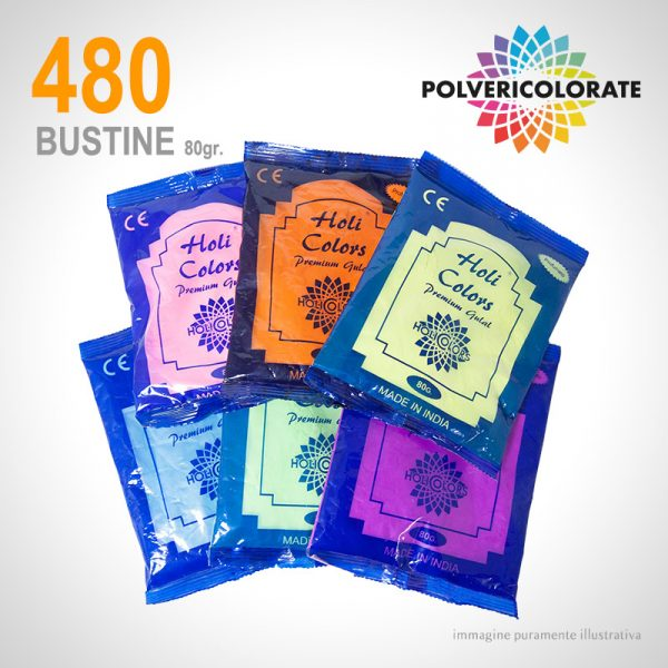 Polveri Colorate HoliColors - 480 bustine